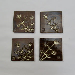 "#741C - Ceramic Tile Set in Gift Box  (4"" x 4"" tiles)"