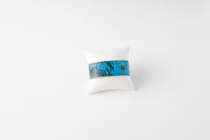 "1"" Brass Cuff - Desert Night Blue"