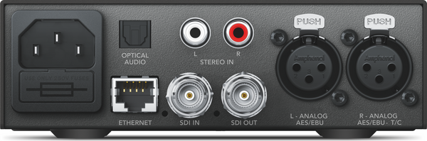 Blackmagic Teranex Mini - audio la SDI 12G