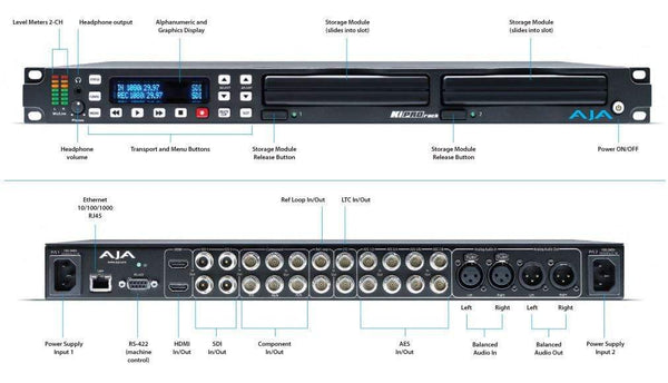Recorder/player 1RU AJA Ki Pro Rack