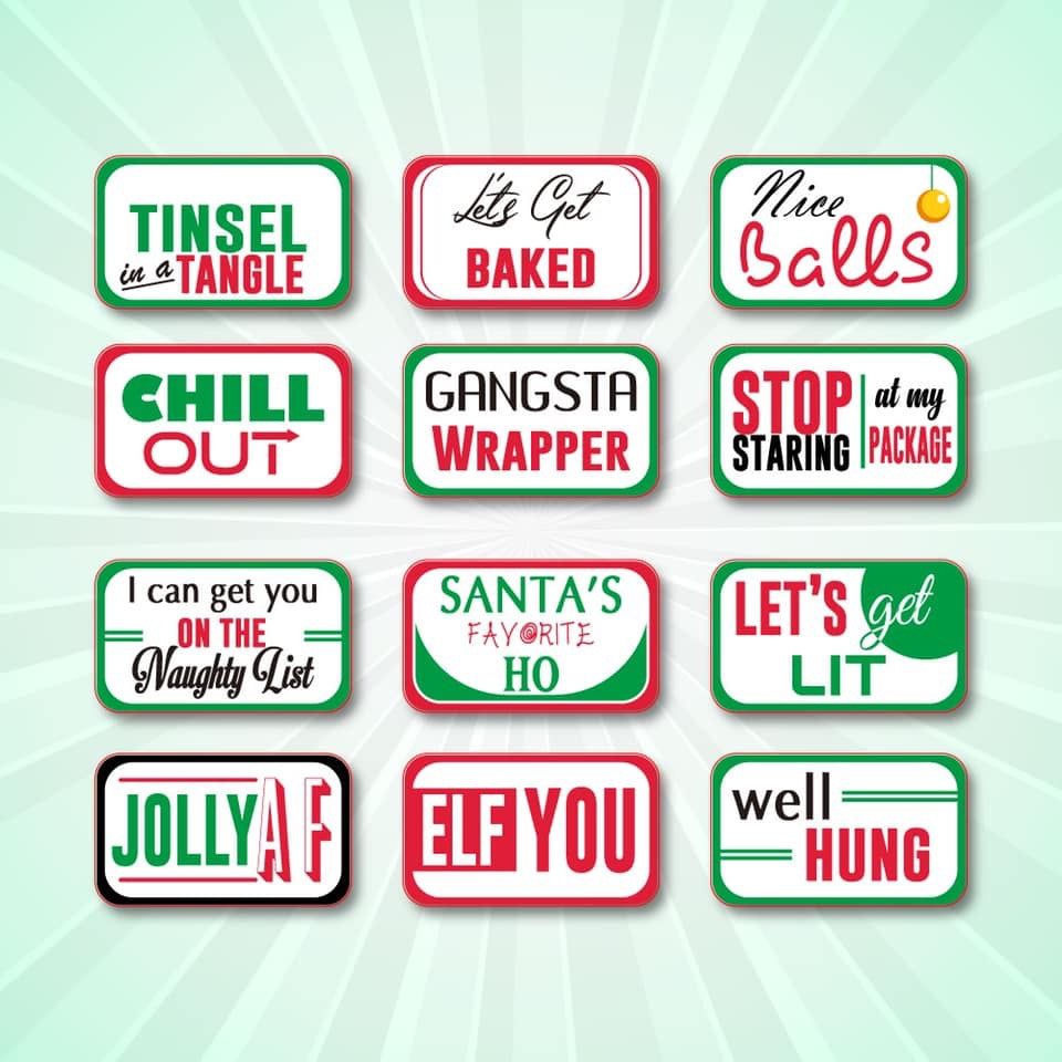 Naughty Holiday Signs includes Free Shipping