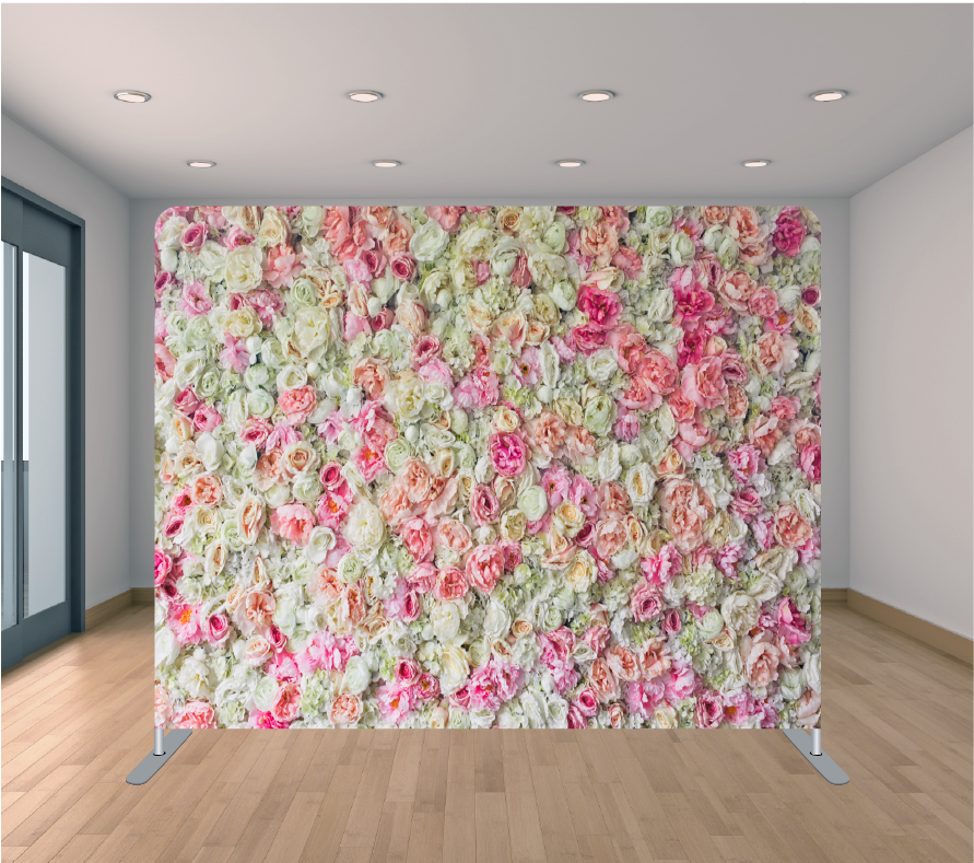 8x8ft Pillowcase Tension Backdrop- Anytime Floral