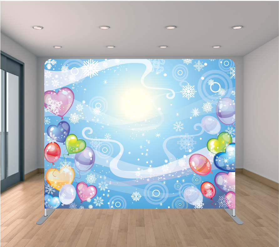 8X8 Pillowcase Tension Backdrop- Birthday Kid