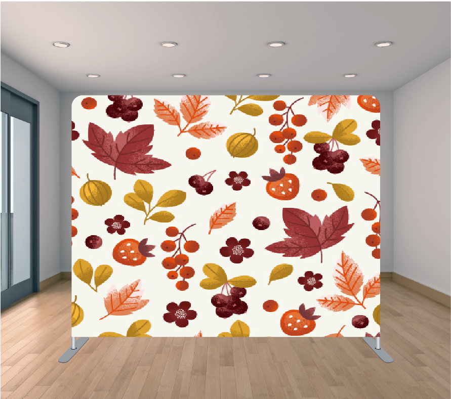 8X8ft Pillowcase Tension Backdrop- Burgundy Berries