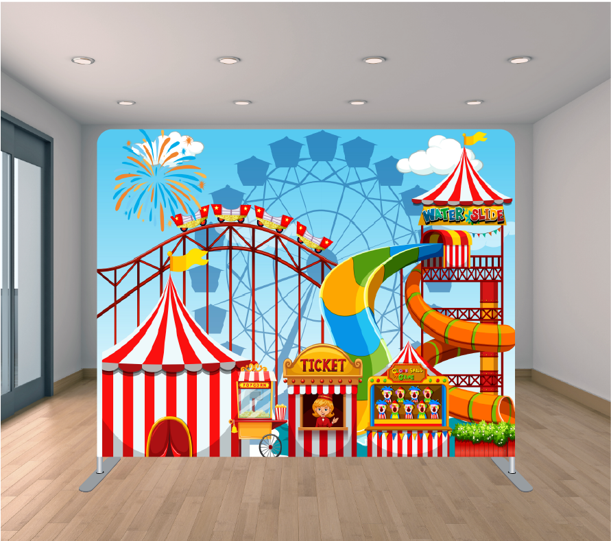 8x8ft Pillowcase Tension Backdrop- Carnival 2