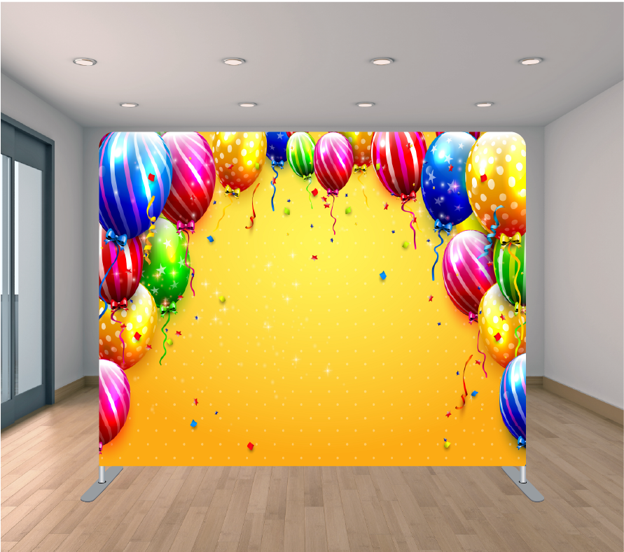 8x8ft Pillowcase Tension Backdrop- Colorful Balloons