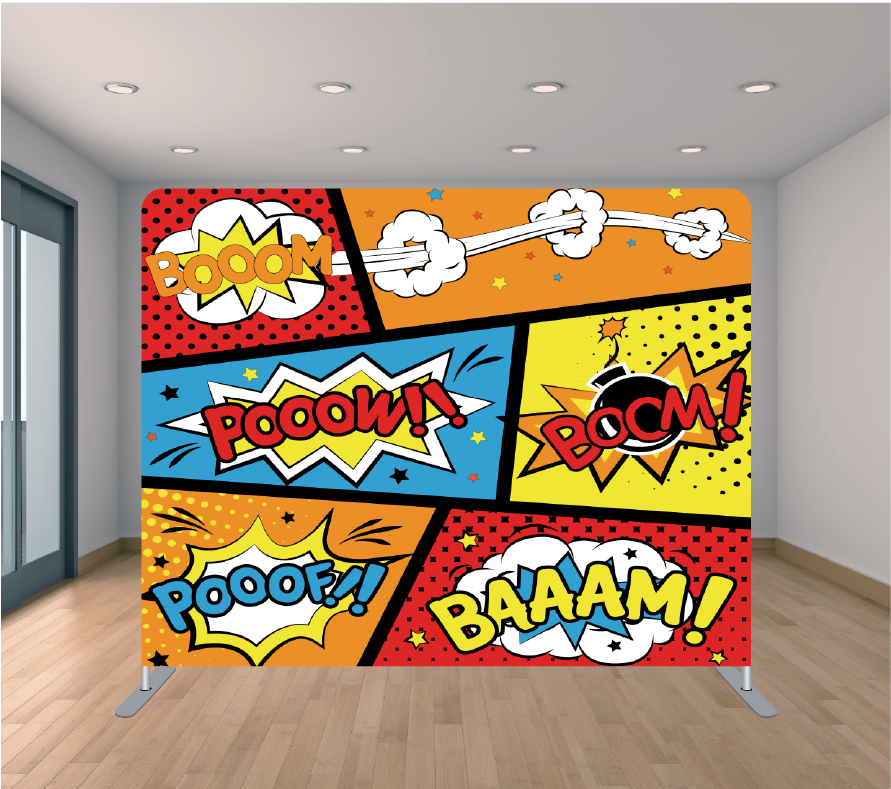 8x8ft Pillowcase Tension Backdrop- Comic 3