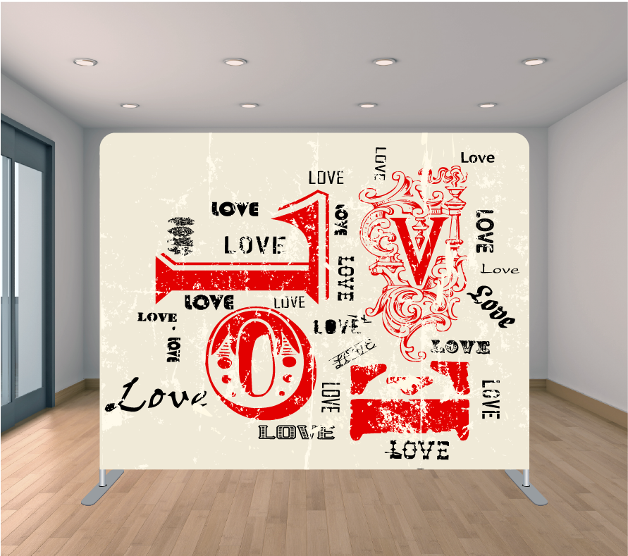 8x8ft Pillowcase Tension Backdrop- Crazy in Love