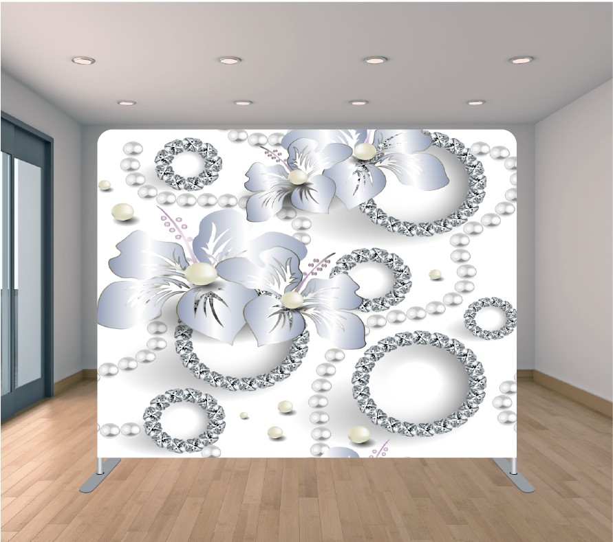 8x8ft Pillowcase Tension Backdrop- Diamonds and Pearls