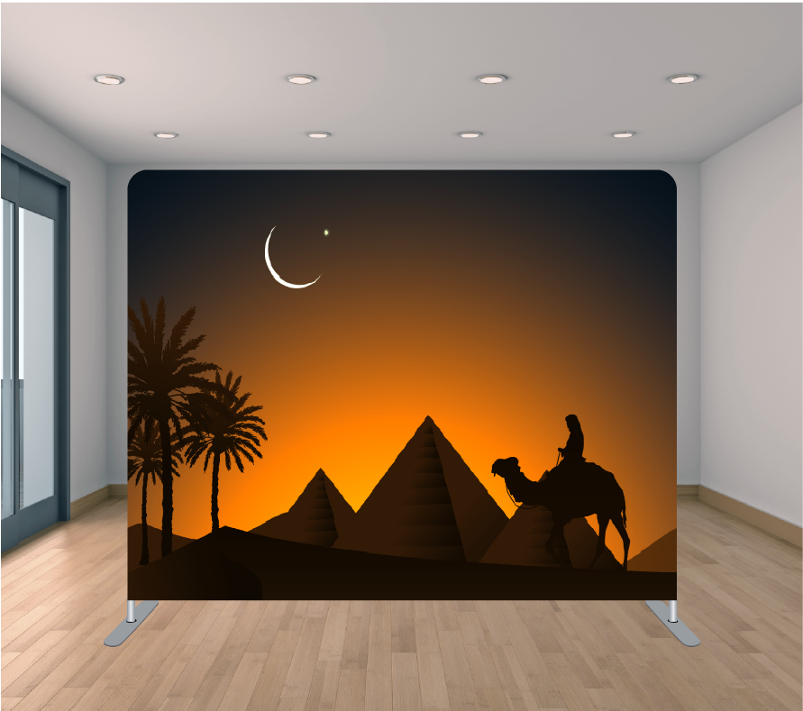 8X8ft Pillowcase Tension Backdrop- Egyptian Nights
