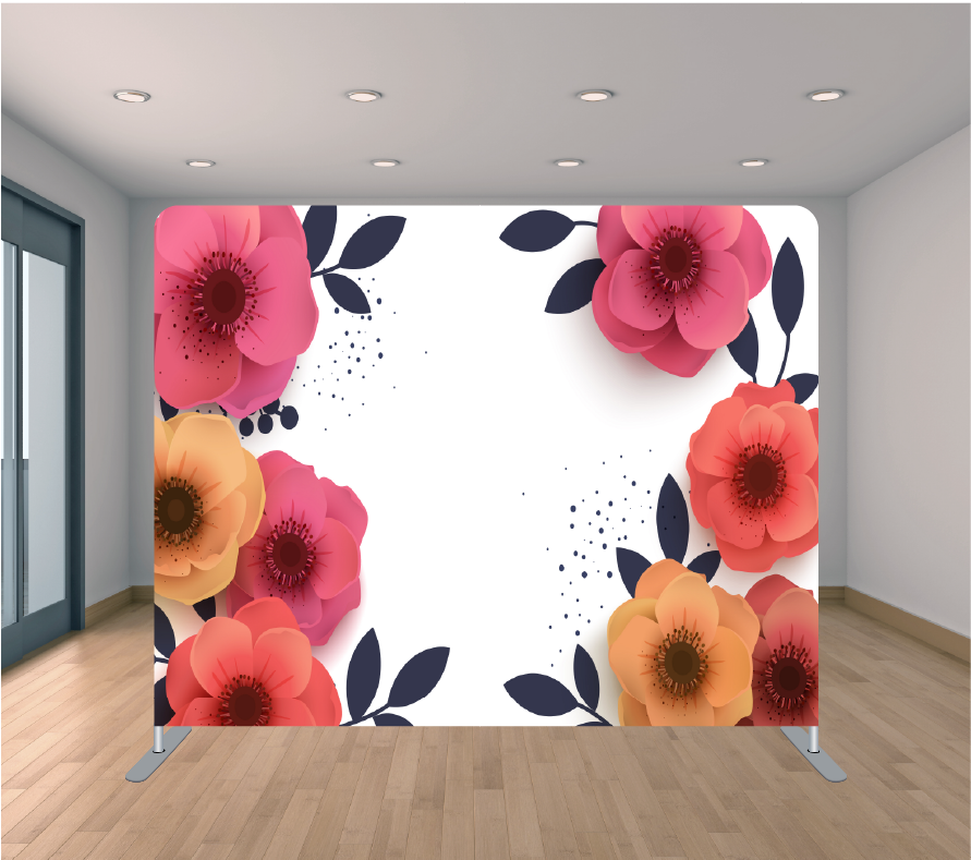8X8ft Pillowcase Tension Backdrop- Floral Specs