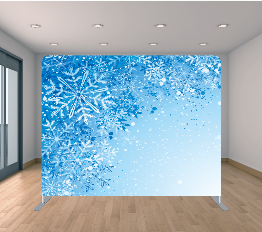 8X8ft Pillowcase Tension Backdrop- Frozen Flakes