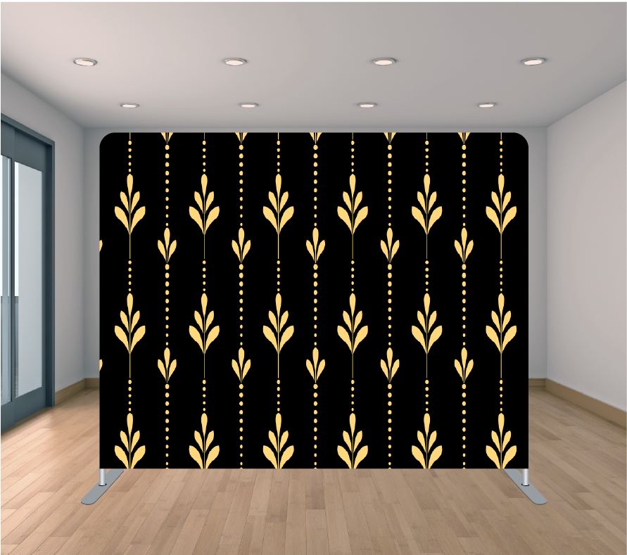 8x8ft Pillowcase Tension Backdrop- Golden Drip