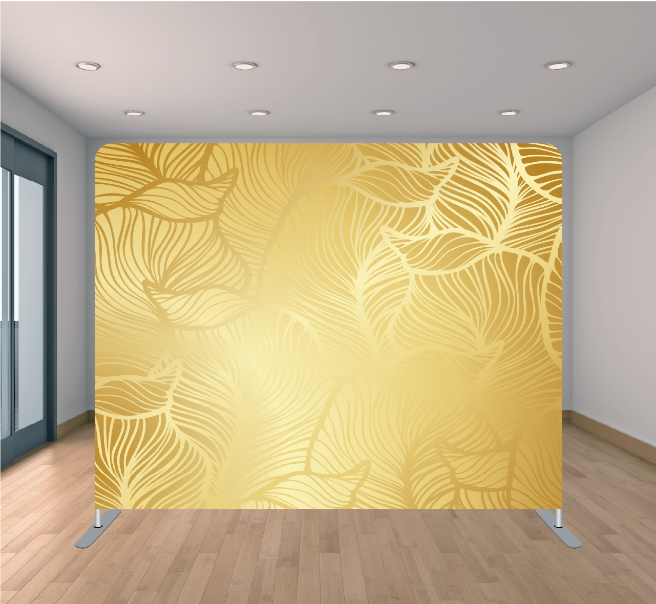 8X8ft Pillowcase Tension Backdrop- Gold Leaf