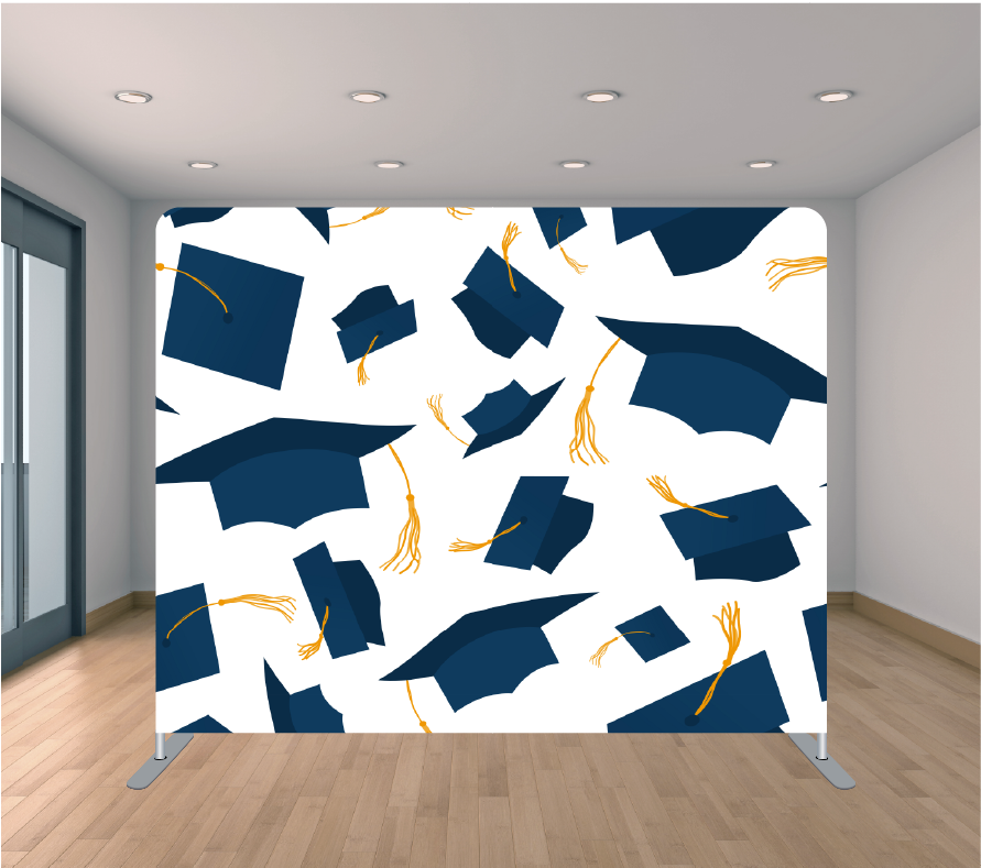 8X8ft Pillowcase Tension Backdrop- Graduation 1