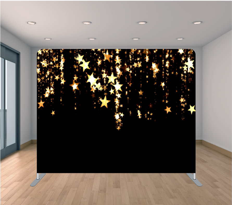 8x8ft Pillowcase Tension Backdrop- Hanging Stars