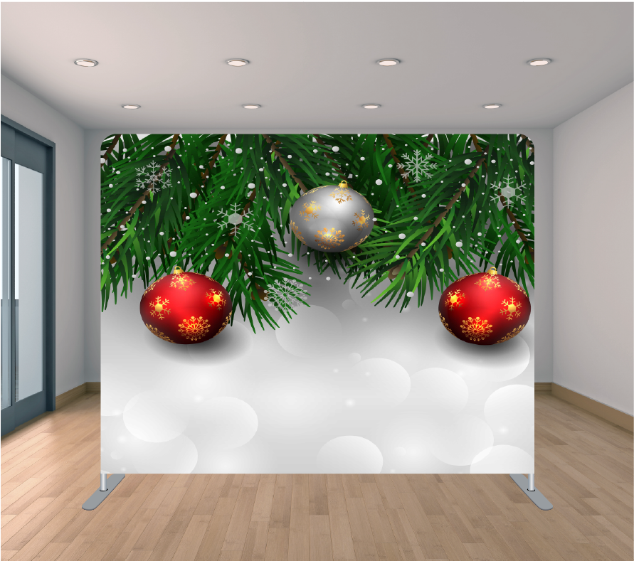 8X8ft Pillowcase Tension Backdrop- Holiday 15