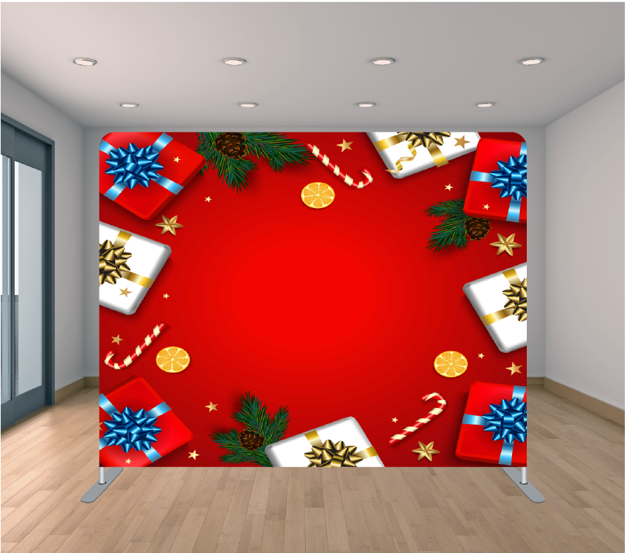 8X8ft Pillowcase Tension Backdrop- Holiday 22
