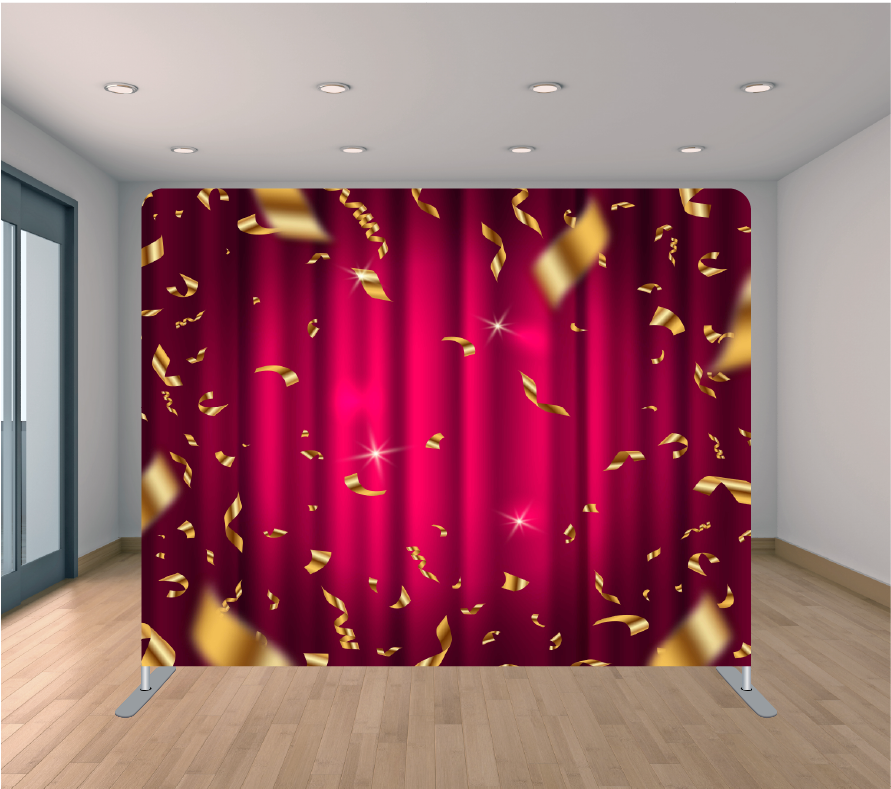 8X8ft Pillowcase Tension Backdrop- Holiday 25