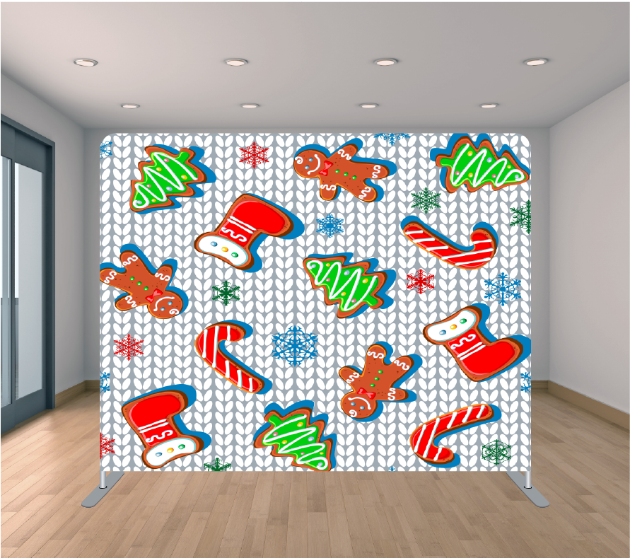 8X8ft Pillowcase Tension Backdrop- Holiday 29