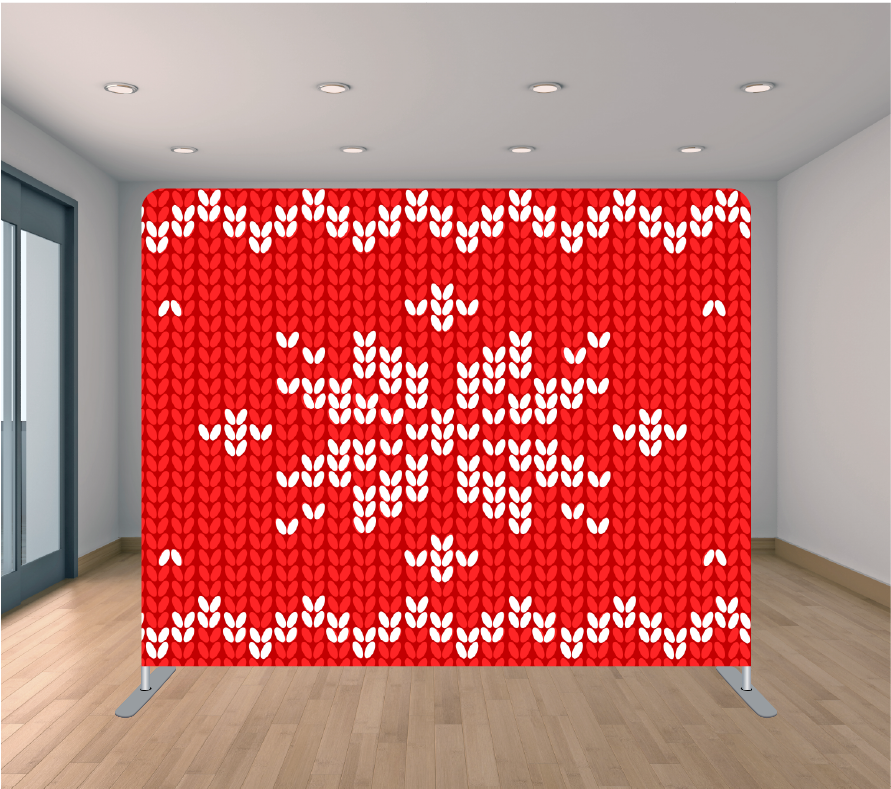 8X8ft Pillowcase Tension Backdrop- Holiday 30