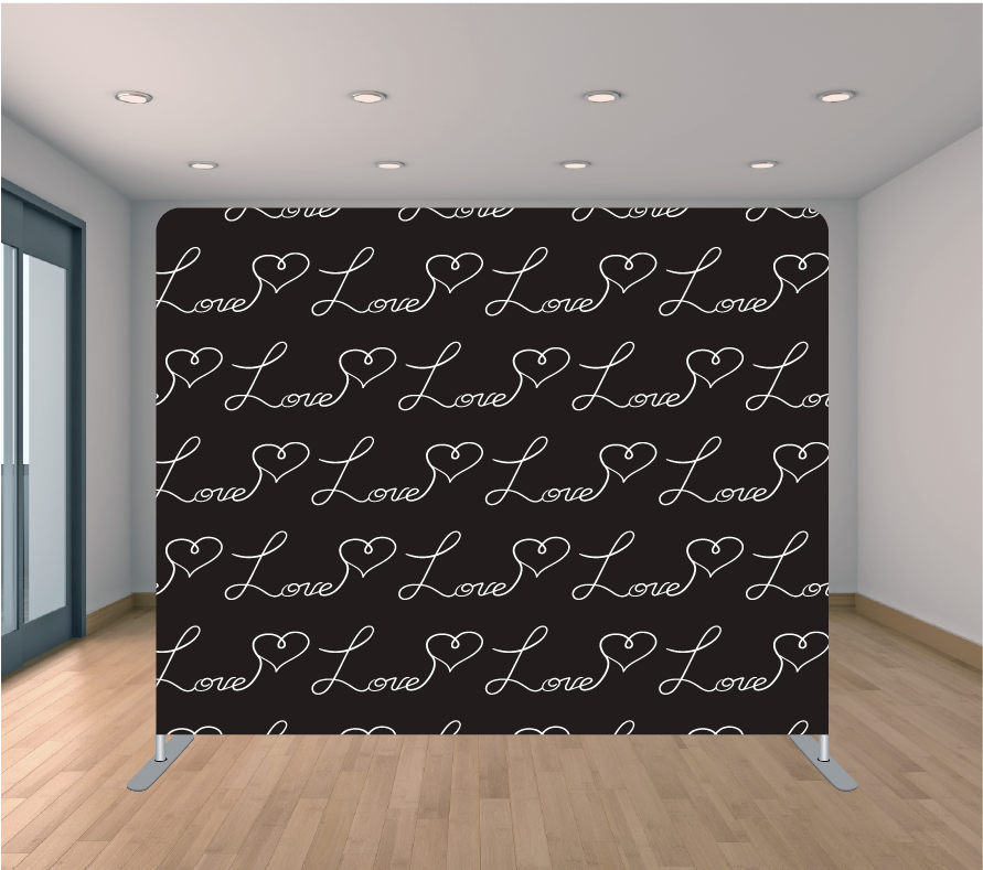 8X8ft Pillowcase Tension Backdrop- Love Song