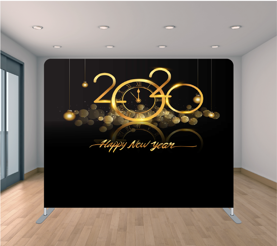 8X8ft Pillowcase Tension Backdrop- New Year 2020