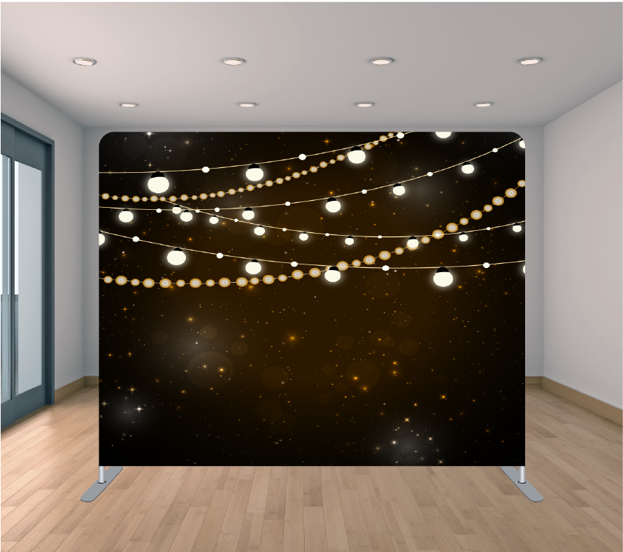 8X8ft Pillowcase Tension Backdrop- Night Multi Lights