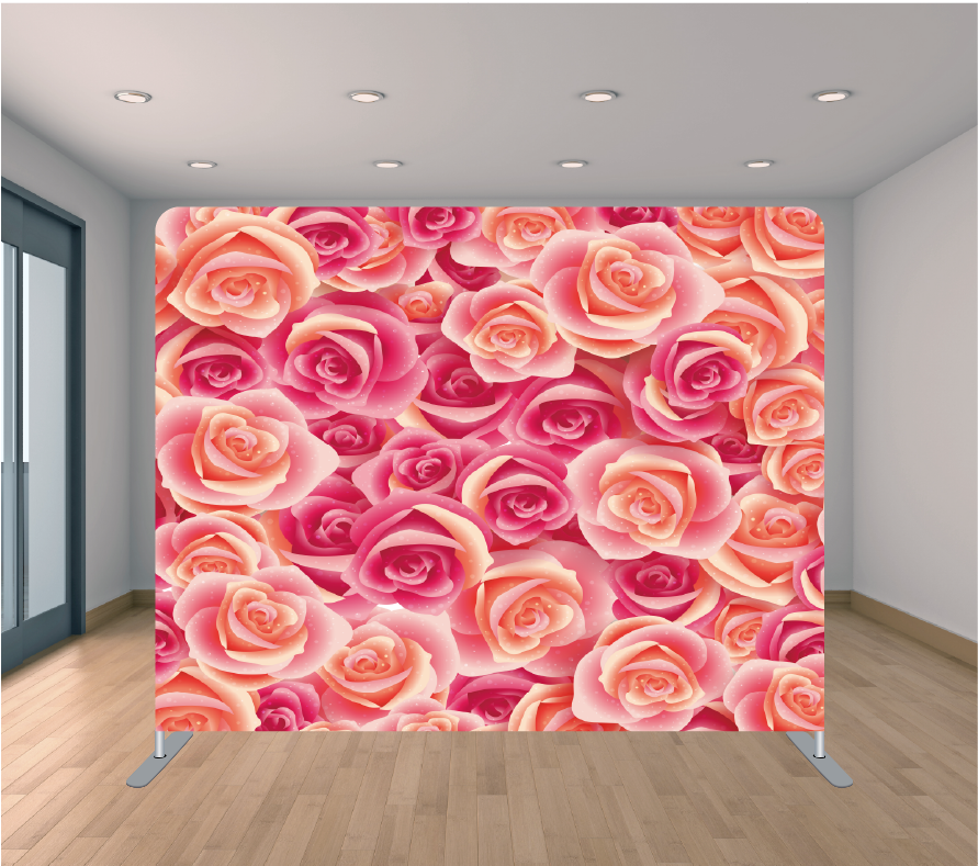 8x8ft Pillowcase Tension Backdrop- Pretty and Pink