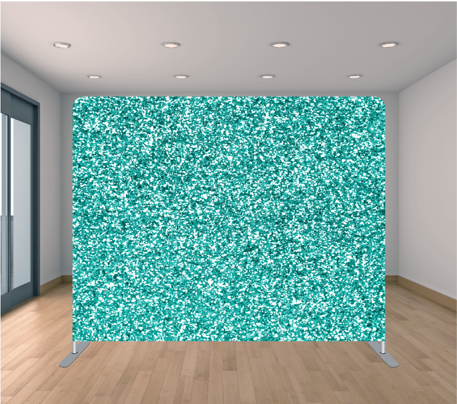 8X8 Pillowcase Tension Backdrop- Sea Green Glitter