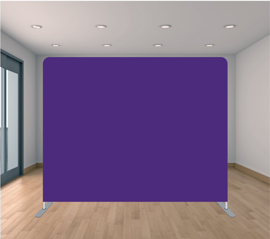 8X8ft Pillowcase Tension Backdrop- Solid Purple