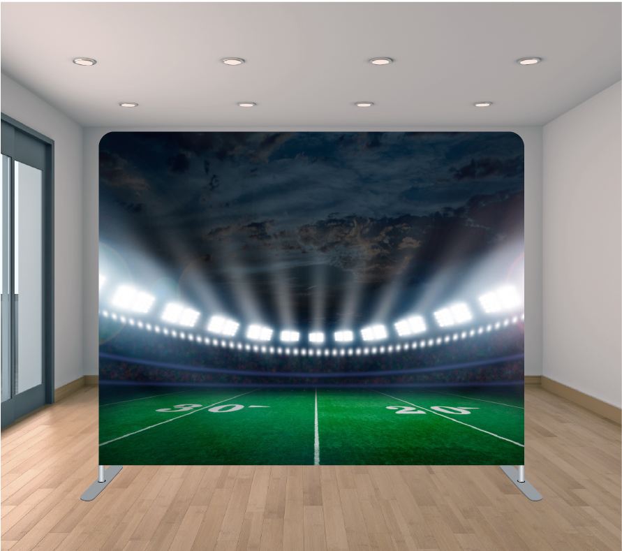 8x8 Pillowcase Tension Backdrop- Stadium Lights
