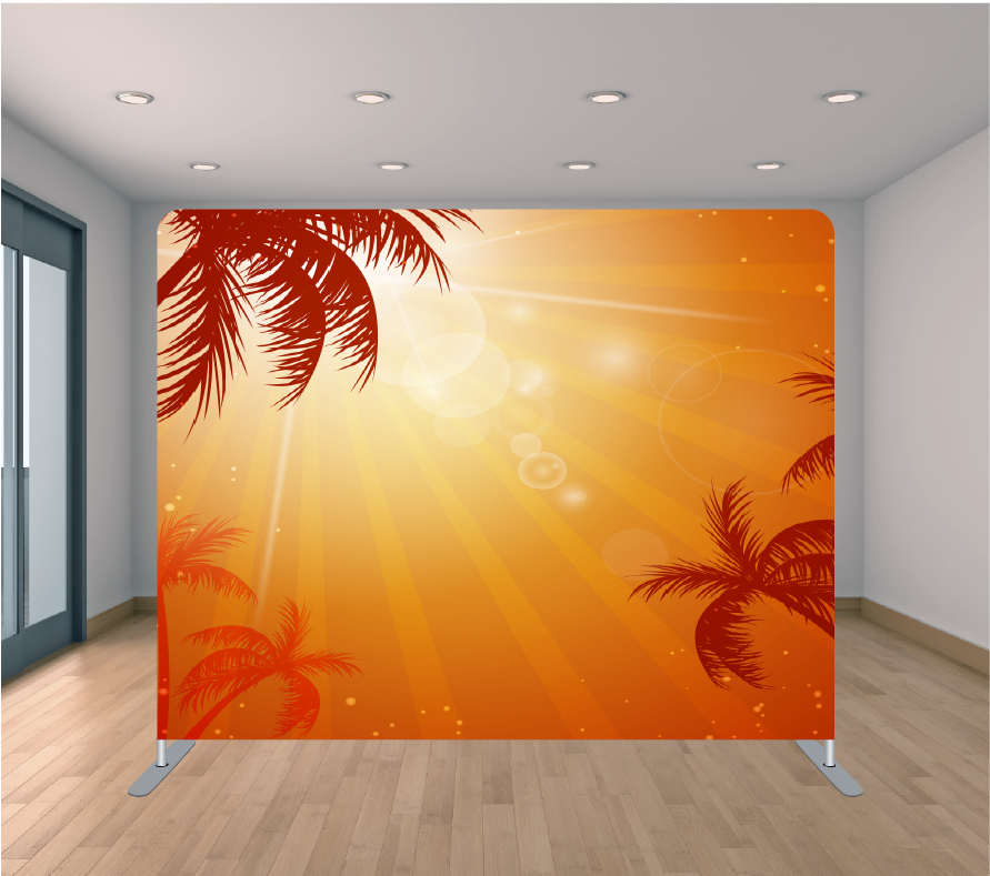 8X8ft Pillowcase Tension Backdrop- Tropical Beam