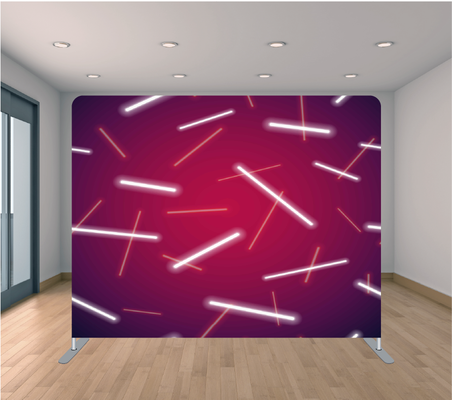 8x8ft Pillowcase Tension Backdrop- White Glow Sticks