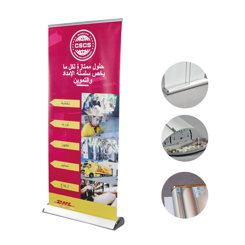 Teardrop Base Advertising Roll Up Display Retractable Banner Stand