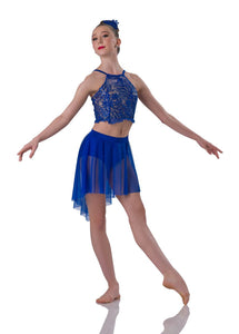 041de419d Royal Blue Two Piece Lyrical Costume. Yours Royal Blue Two Piece Lyrical  Costume from Dance Room.