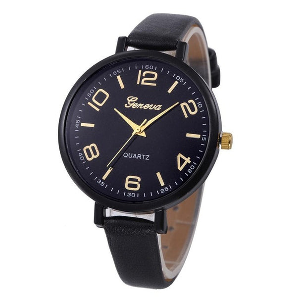 Women PU Leather Casual Quartz