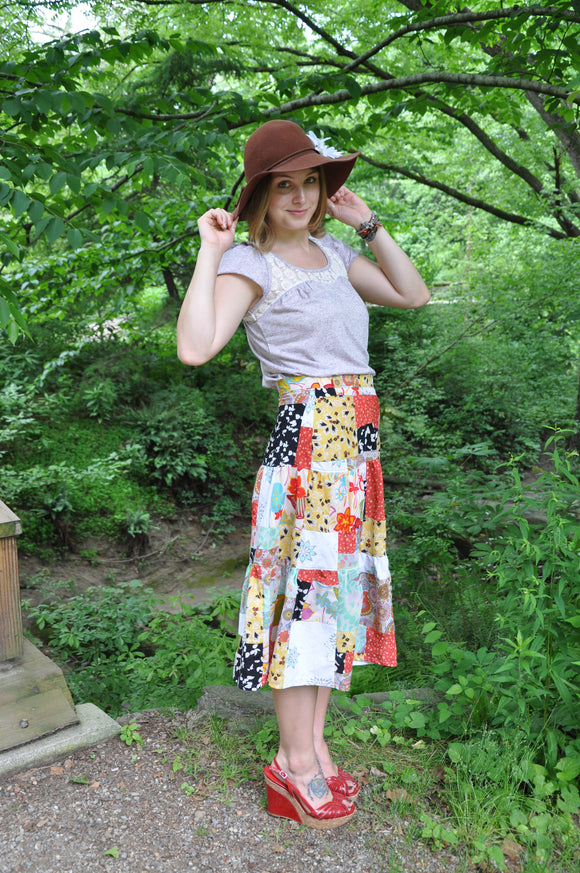 Upcycled Patchwork Skirt