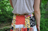 "Upcycled Patchwork Skirt ""Festival Fun"""