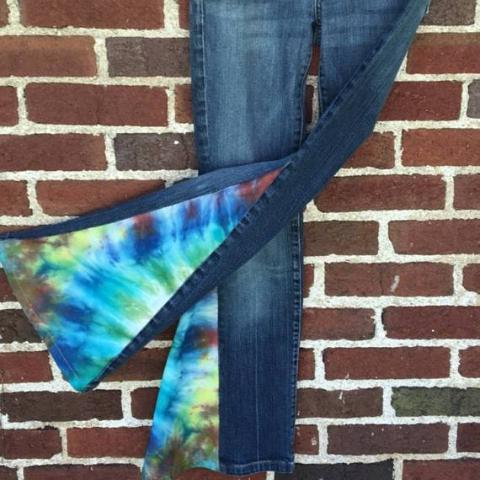 Upcycled Tie Dye Bell Bottoms