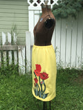 "CLEARANCE! Upcycled Skirt ""Poppy Fever"""