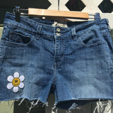 "Upcycled Jorts ""Happy Daisy Dukes"""