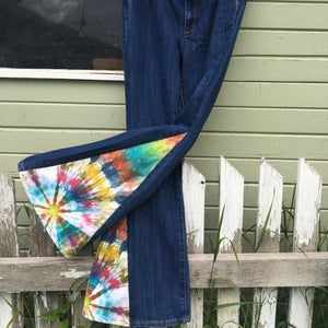 "Upcycled Tie Dye Bell Bottoms ""Sunshine Raydream"""