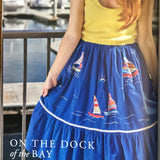 "Upcycled Dress ""On the Dock of the Bay"""
