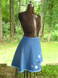 "Handmade Wrap Skirt ""Blue"""