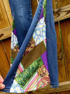 "Upcycled Patchwork Bell Bottoms ""Keep it Funky"""