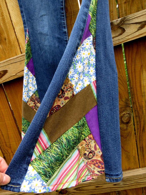 Upcycled Patchwork Bell Bottoms