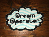 Dream Operator, handmade Talking Heads iron on patch