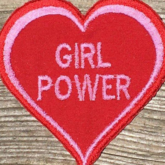 Girl Power handmade iron on patch