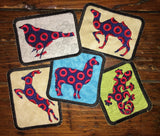 Dog (log) handmade Phish iron on patch